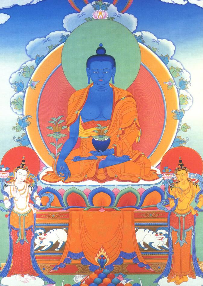 药师佛-唐卡-中国佛教故事网