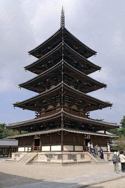 日本法隆寺五重塔
