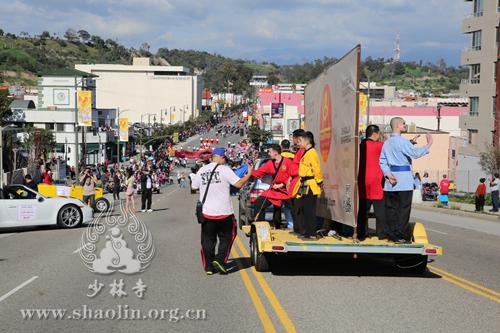 美国洛杉矶少林文化中心积极参与洛杉矶各个城市中国新年庆祝活动