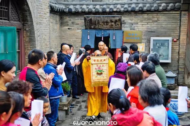 山西灵石资寿寺举行浴佛节祈福法会
